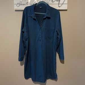 Old Navy - long sleeve denim tunic dress